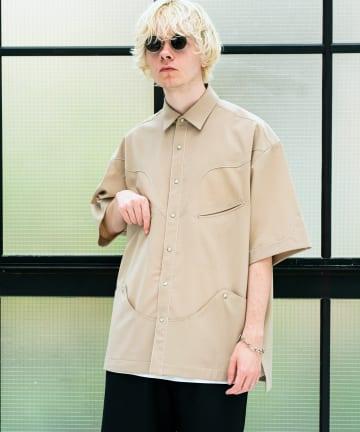 Lui's(ルイス) 【TAUPE/トープ】 TWトロピカルウエスタンS/Sシャツ