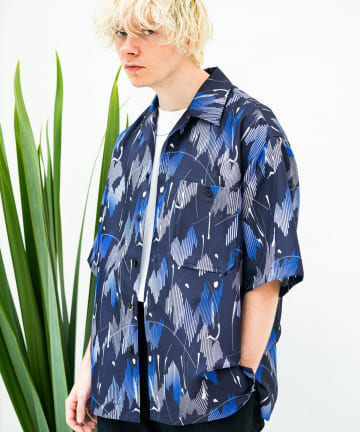 Lui's(ルイス) 【TAUPE/トープ】 ヴィンテージペイントオープンカラーシャツ