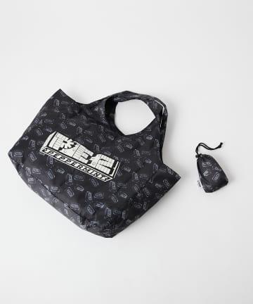 ear PAPILLONNER(イア パピヨネ) 【PEZ(ペッツ)×ear】オリジナルロゴエコバッグ 収納用巾着つき