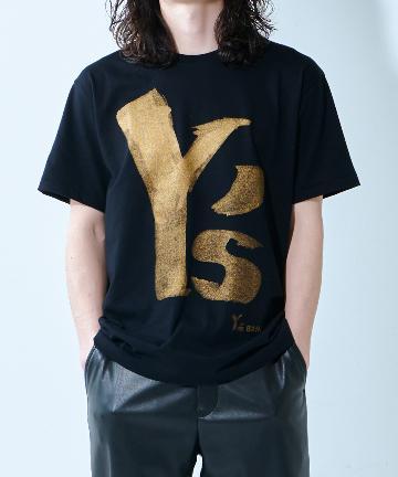 Lui's(ルイス) 【Y's BANG ON!/ワイズ バングオン】 デカロゴTシャツ ゴールド半袖