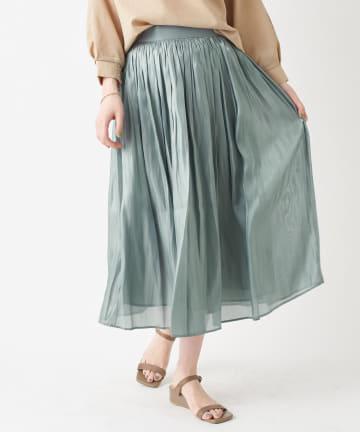 La boutique BonBon(ラブティックボンボン) 【手洗い可】リキッドスカート