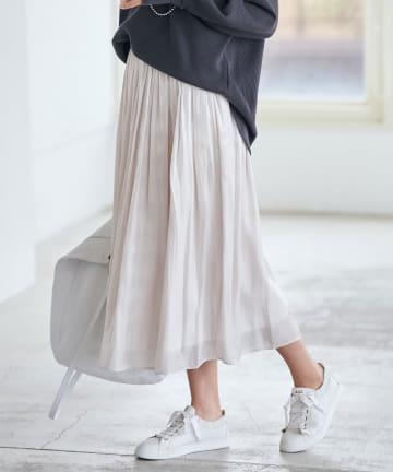 La boutique BonBon(ラブティックボンボン) 動画付き【手洗い可】リキッドスカート