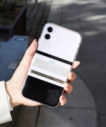 3COINS(スリーコインズ) 【ASOKO】<WEB限定SALE>クリアボーダーiPhone11ケース