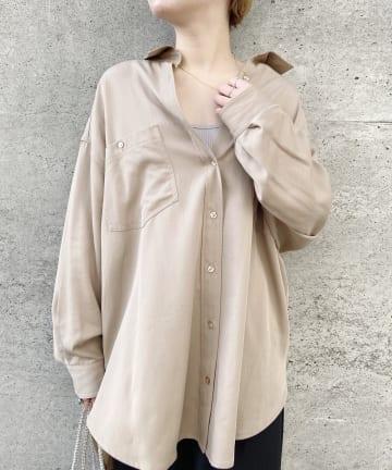 SHENERY(シーナリー) テンセルライクBIGシャツ
