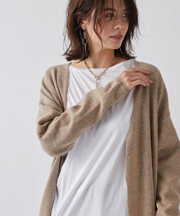 un dix cors(アンディコール) 【コートのインナーにも着れる】裾チュール2wayロングカーデ