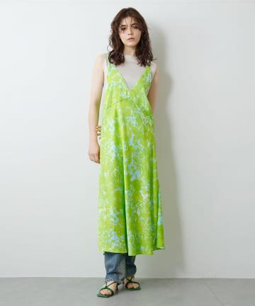 Whim Gazette(ウィム ガゼット) 【GEMINI】プリントキャミドレス