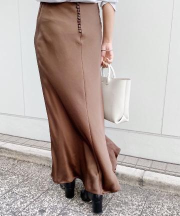 SHENERY(シーナリー) バックボタンマーメイドスカート
