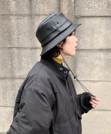 Kastane(カスタネ) IMITATION LEATHER BACKET HAT