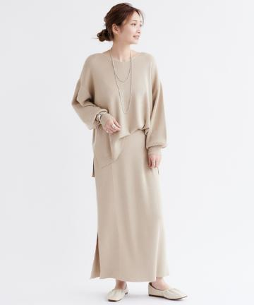 DOUDOU(ドゥドゥ) 【WEB限定】【セットアップ】Vネックプルオーバー×タイトスカート