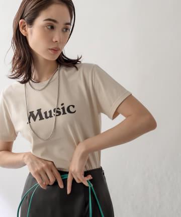 La boutique BonBon(ラブティックボンボン) 人気アイテム再入荷!【洗える・フレーバーティー】MUSIC Tシャツ