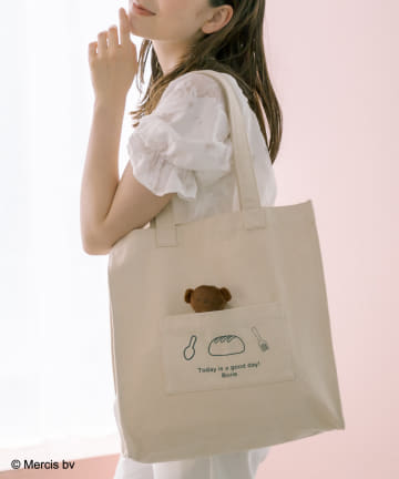 OLIVE des OLIVE(オリーブ デ オリーブ) miffyチャーム付トートバッグ