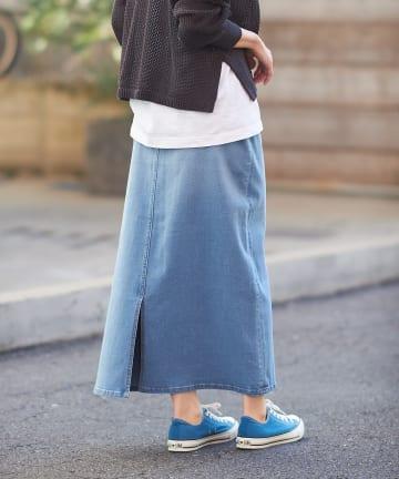 CIAOPANIC TYPY(チャオパニックティピー) スタイルアップAラインデニムスカート