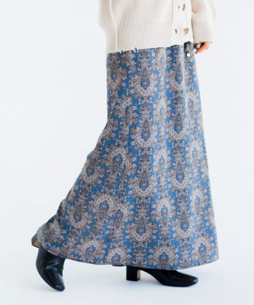 CPCM(シーピーシーエム) 梅春ペイズリースカート