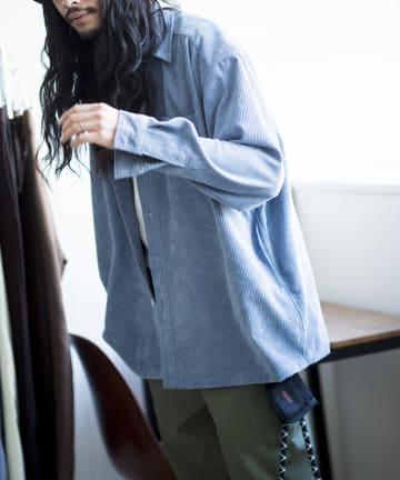 CPCM(シーピーシーエム) 太畝コーデュロイビッグシャツ