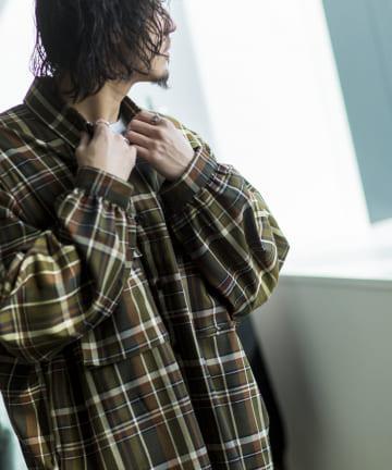 CPCM(シーピーシーエム) 【ユニセックス 男女 兼用】両ポケTRビッグチェックシャツ
