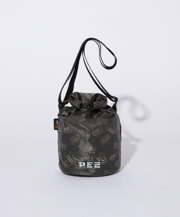ear PAPILLONNER(イア パピヨネ) 【PEZ(ペッツ)×ear】筒形ポシェット BURLAP OUTFITTER