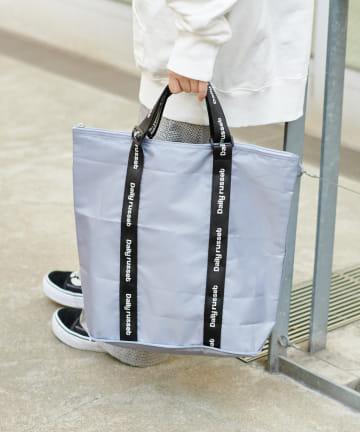 Daily russet(デイリー ラシット) 【人気アイテム】ロゴテープ保冷ポケッタブルエコバッグ