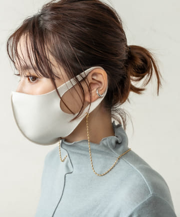 Omekashi(オメカシ) 【WEB限定】オーバルマスクチェーンネックレス