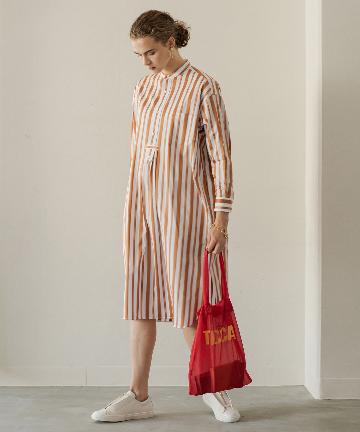Loungedress(ラウンジドレス) 【TICCA/ティッカ】ノーカラータックロングシャツ
