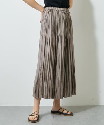 Whim Gazette(ウィム ガゼット) ツイルプリーツスカート