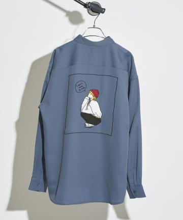 CPCM(シーピーシーエム) バックガール刺繍シャツ