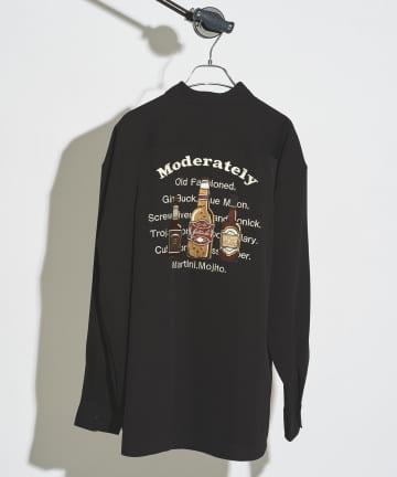 CPCM(シーピーシーエム) バックボトル刺繍シャツ