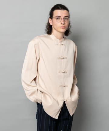 CIAOPANIC(チャオパニック) サテンチャイナボタンシャツ