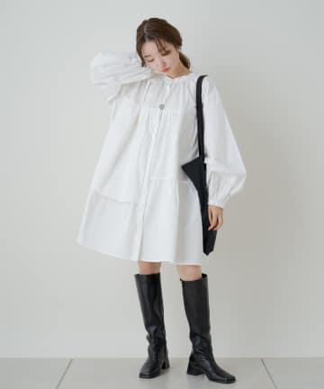 Kastane(カスタネ) フリルティアードシャツワンピース【動画あり】