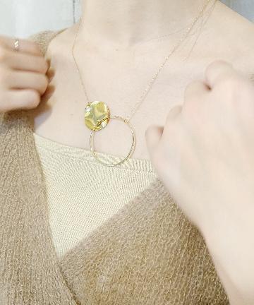 SHENERY(シーナリー) 【WEB限定】ダブルサークルリングネックレス