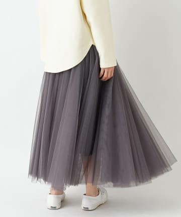un dix cors(アンディコール) 《予約》動画付き【WEB限定】チュールギャザースカート