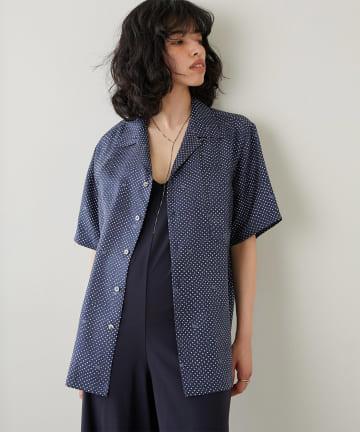 Whim Gazette(ウィム ガゼット) 【BANANATIME】シルクドットシャツ