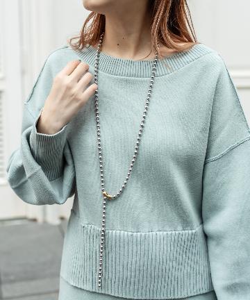 mystic(ミスティック) Lara Long ball necklace