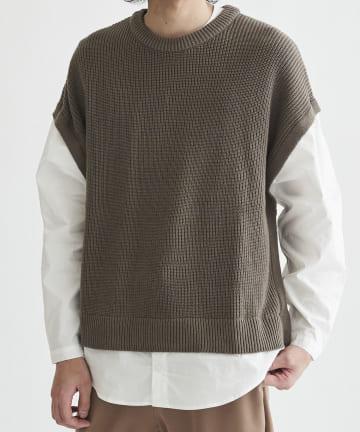 CPCM(シーピーシーエム) ニットドッキングシャツ