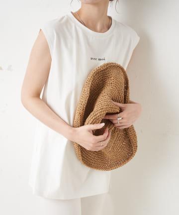 TERRITOIRE(テリトワール) 【SORONA】ノースリーブプリントTシャツ