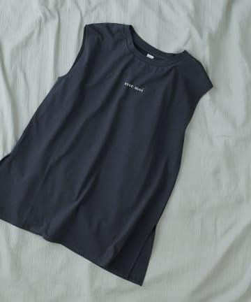 TERRITOIRE(テリトワール) 【ナチュラルコットン】SORONA ノースリーブプリントTシャツ