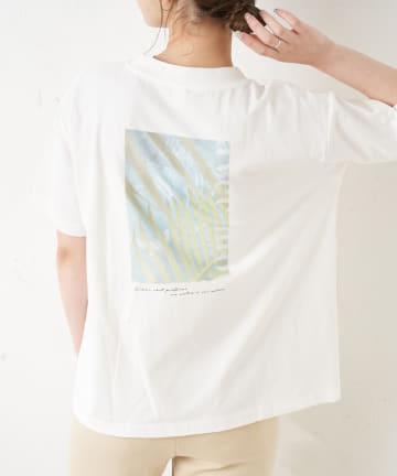 TERRITOIRE(テリトワール) 【ナチュラルコットン】SORONAボタニカルプリントTシャツ