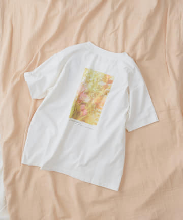 TERRITOIRE(テリトワール) 【SORONA】ボタニカルプリントTシャツ