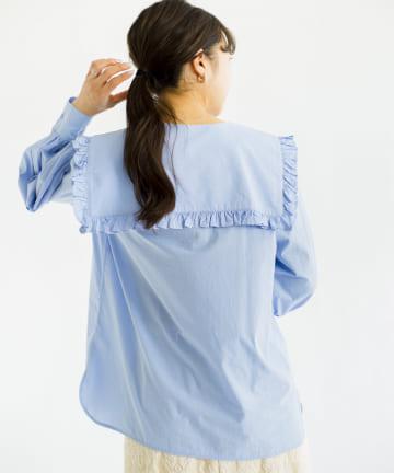 CPCM(シーピーシーエム) 三角セーラーカラーコットンシャツ