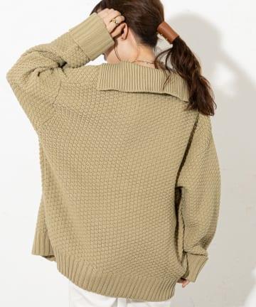 Discoat(ディスコート) 【WEB限定】カノコ編みニットジャケット