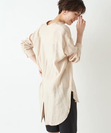 un dix cors(アンディコール) 動画付き【柔らかな素材感が女性らしい】バックスリットチュニックシャツ