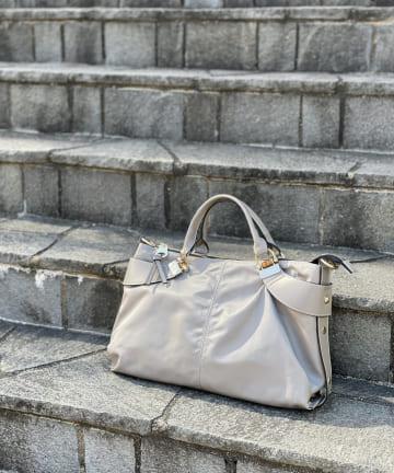RIVE DROITE(リヴドロワ) 【動画付き《定番人気のバッグが今季も登場》】A4ナイロン2wayバンブーバッグ