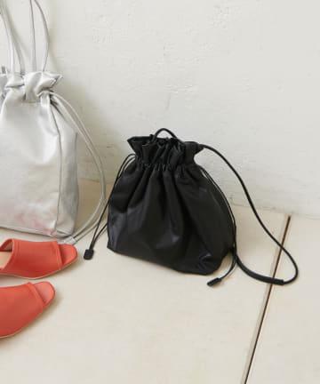 Discoat(ディスコート) エコレザー巾着トートバッグ