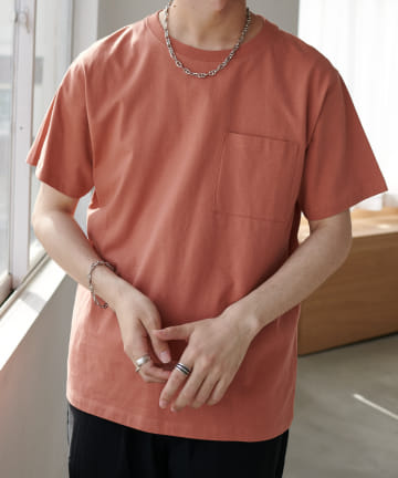 Discoat(ディスコート) USコットン胸ポケTシャツ