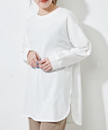 Discoat(ディスコート) 後ろハギビッグロングTシャツ