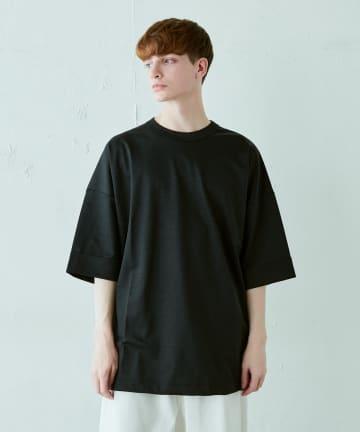 Lui's(ルイス) ラミー混ミラノリブビッグシルエットTシャツ