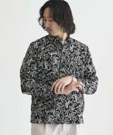 CPCM(シーピーシーエム) ペイズリー柄長袖シャツ