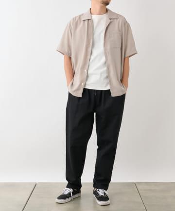 COLONY 2139(コロニー トゥーワンスリーナイン) トロタッチオープンカラー半袖シャツ