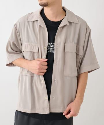 COLONY 2139(コロニー トゥーワンスリーナイン) トロタッチBIGポケット半袖シャツ