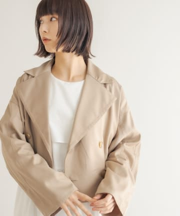 Lui's(ルイス) ステッチデザインダブルショートジャケット
