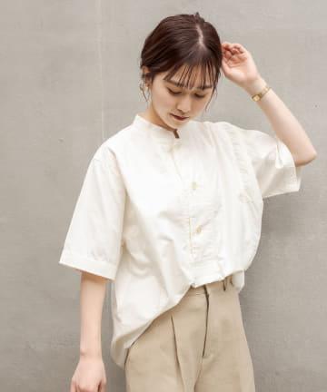 CAPRICIEUX LE'MAGE(カプリシュレマージュ) スタンドカラーボタンシャツ